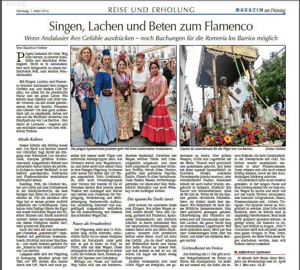 Singen, Lachen und Beten zu Flamenco
