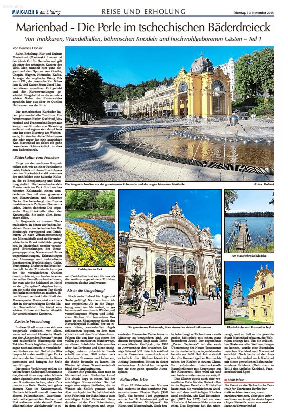 Marienbad  – Die Perle im tschechischen Bäderdreieck